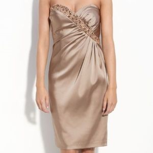 Maggy London Strapless Beaded Dress